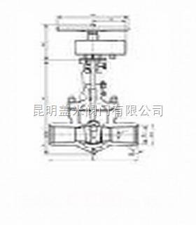 高壓焊接式閘閥-高壓閥門-蓋米閥門-昆明蓋米閥門