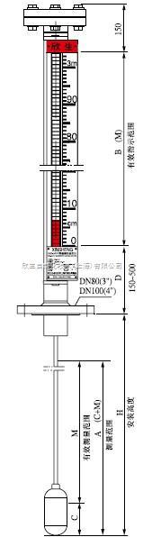 耐腐型顶装式磁翻柱液位计