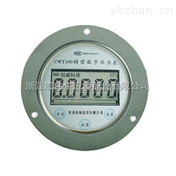 創威 CWY100 軸向帶安裝盤的軸向數字壓力表