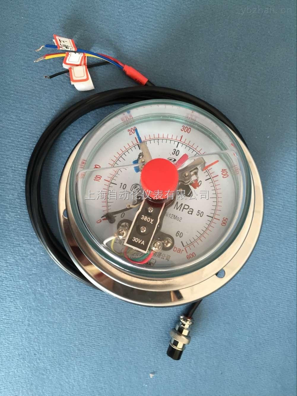 电接点压力表  特种磁助电接点压力表具有结构新颖