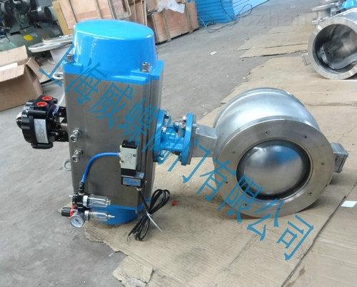 氣動V型球閥,不銹鋼氣動V型球閥型號