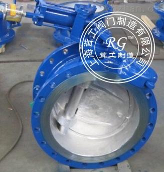 蝶式缓冲止回阀 -结构尺寸图 -上海茸工阀门制造有限公司