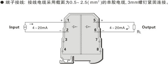 普通型无源隔离器(一入一出)