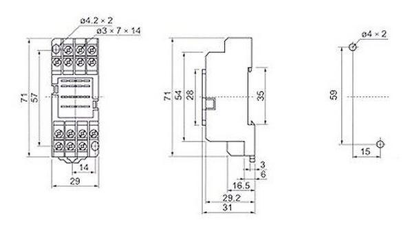 pyf-14a继电器插座厂家