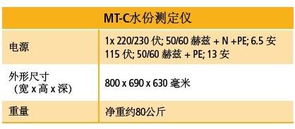MT-C水分测定仪  参数