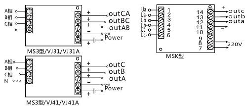 三相交流电压隔离变送器/传感器